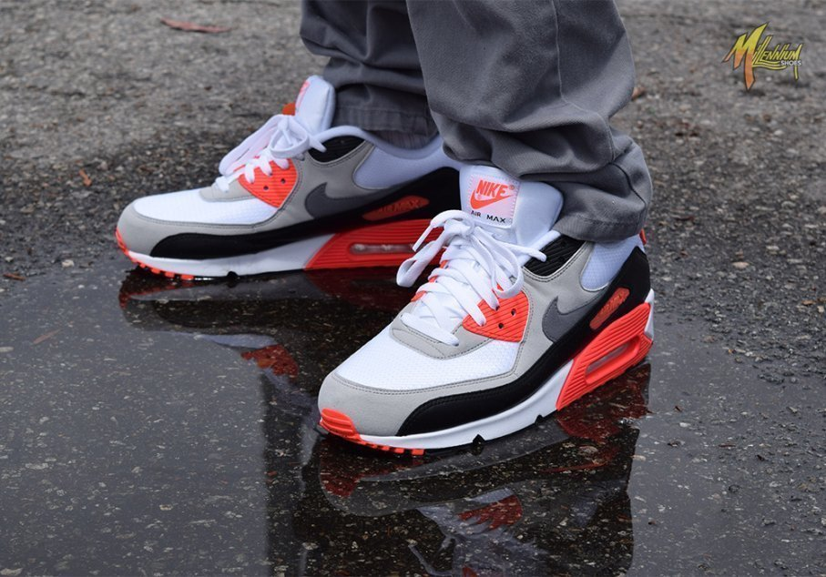 2015 Nike Air Max 90 OG Infrared Review + On Feet